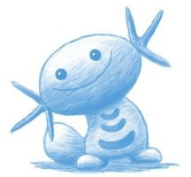 Monochromatic Wooper by H-S