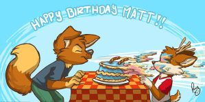 Happy birthday Matt by pandapaco