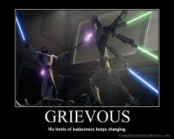 Star Wars The Clone Wars Grievous vs Obi-Wan by Onikage108