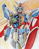 first comision sketch 2009 Wing Gundam by Gerlich-Illustration