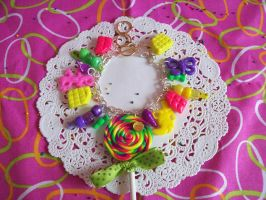 Neon Sweets Charm Bracelet by lessthan3chrissy