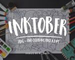 Inktober Week 1 ~ One Coloring Page A Day by PicCandle