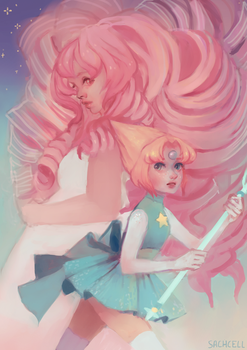 Pearl and Rose by sachcell