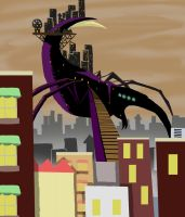 This City is a Parasite - Atop Its Back by The-Walking-Dude