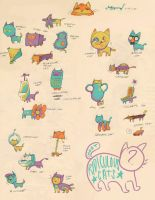 RIDICULOUS CATS by msmoots