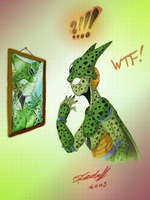 Cell......O_O.....XD lol by Hevimell