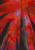 Spitpaint 008: Autumn Canopy by selkie-gal