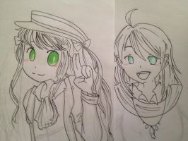 WIP W101 Portraits - Madison E + Rebecca by Khrisanthemum