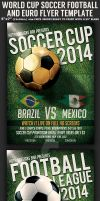 Brazil Soccer Football World Cup Flyer Template by Hotpindesigns