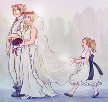 EdWin week Day 5: Wedding by Fennethianell