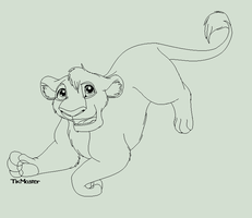 Lion Lineart by Iva-Inkling