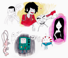 Adventure Time quick drawings by Sci00