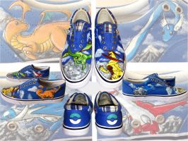 Commission- Dragon Pokemon Shoes by lobosolo
