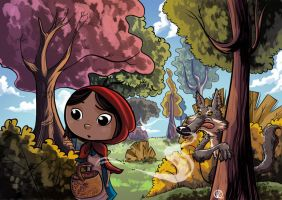 Little red riding hood by Victorfl