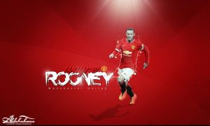 wallpaper wayne rooney 2014 by Designer-Abdalrahman