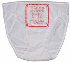 Bless this Mess period panties by NurseTab