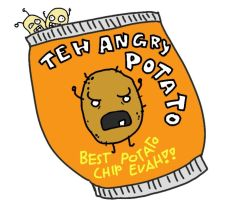 Teh angry potato by livinlovindude