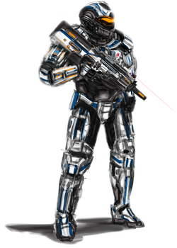 USAN Union 6 Recon Marine Crusader by LupeanTheNavyPriest