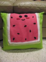 Watermelon Pillow by celina-tamwood
