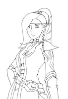 Free Lineart - Kryss Winterheld by DeadlyObsession