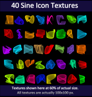 40 Sine Icon Textures by littiot