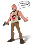 Max Payne 3 cartoon by PatrickBrown