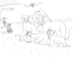 Family Outting - Sketch Commission by Nala15