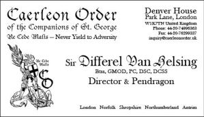 Caerleon Order Business Card by TeamGirl-Differel