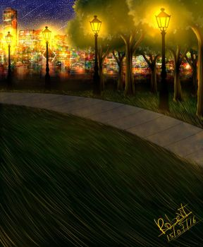 Midnight in the park by robert2715