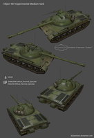 Object 907 Medium Tank by 3DZweistein