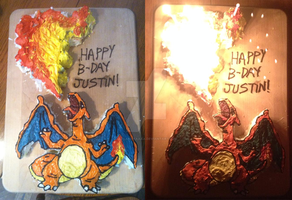 Charizard Pokemon Cake by Yolandaaaaa
