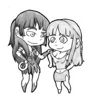 Xena and Gabby by Fishinggurl