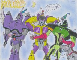 Happy new year 2015  with decepticons by ailgara