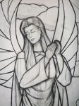 Angel-cartoon-stained-glass-window-face by ImaginedGlass