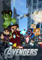 The Avengers - A Minecraft Poster by Artheleon