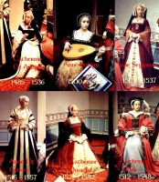 The six wives of Henri VIII by peteandco