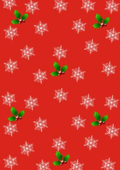 Wrapping Christmas paper red by spidergypsy