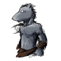 Rat anthro sketch by ChaserTech