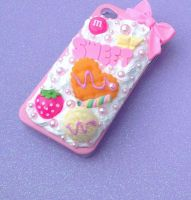 WHIPPED CREAM CANDY SWEETS  I PHONE 4 CASE by KAWAIIBOUTIQUE