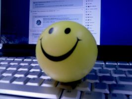 Smiley Face Stress Ball by amormimosse