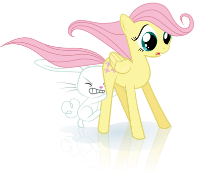 [MLP vector] Fillyshy Ice Skating by YanPictures