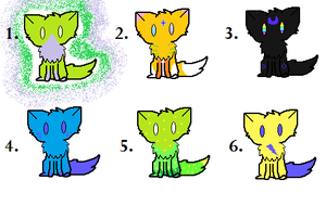 Another set of 1 point adoptables! by Blisspaw