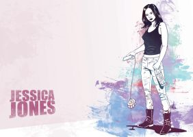 Jessica Jones A3 Print by Jesterman