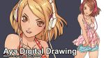 Risa Digital Drawing Video by JetEffects