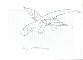 Spiral The Dragon Flying by DragonCartoons