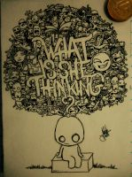What Is She Thinking Doodle by naldojunio