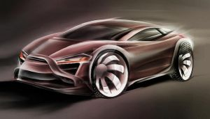 Fordcoupe cardesign sketching by koleos33