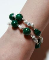 Malachite and Howlite, view 1 by starglo21