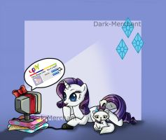 Rarity Mousepad - available by Dark-Merchant