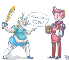 Tubby Fionna Wants More Eclairs by bloopity